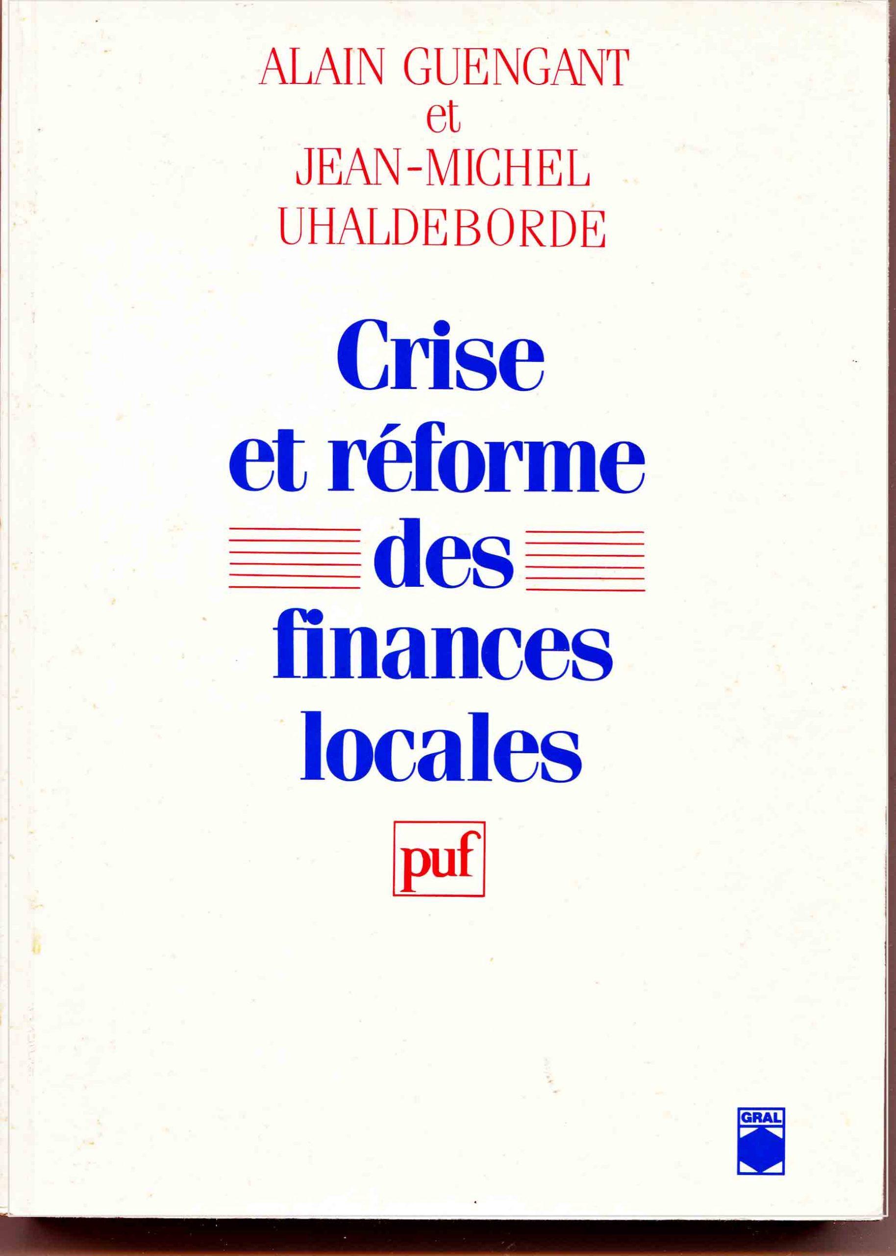 Crise et réforme des finances locales