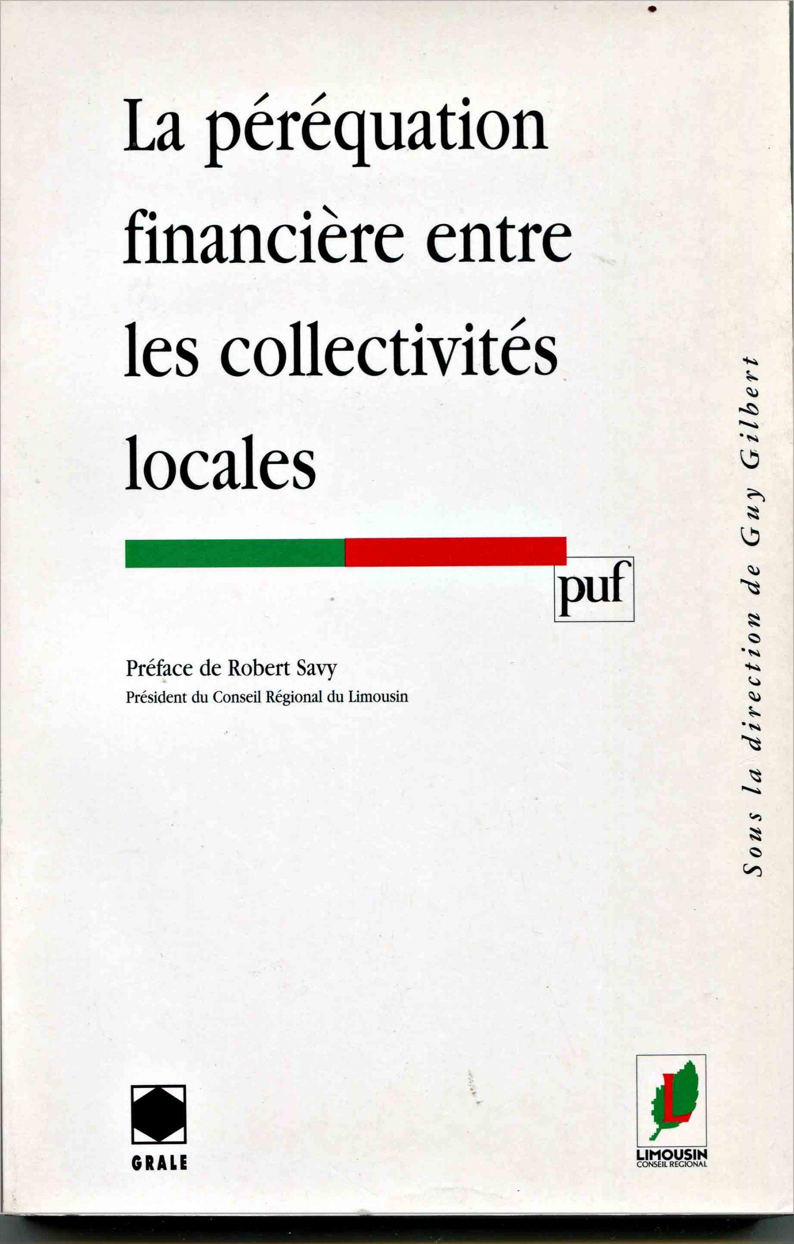 Péréquation financière entre les collectivités locales (La)