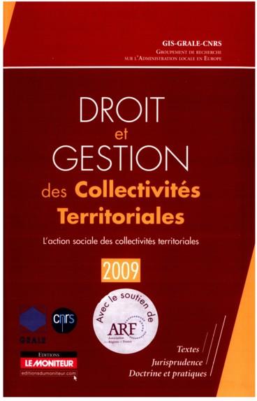 Droit et gestion des collectivités territoriales 2009 « L'action sociale des collectivités territoriales »