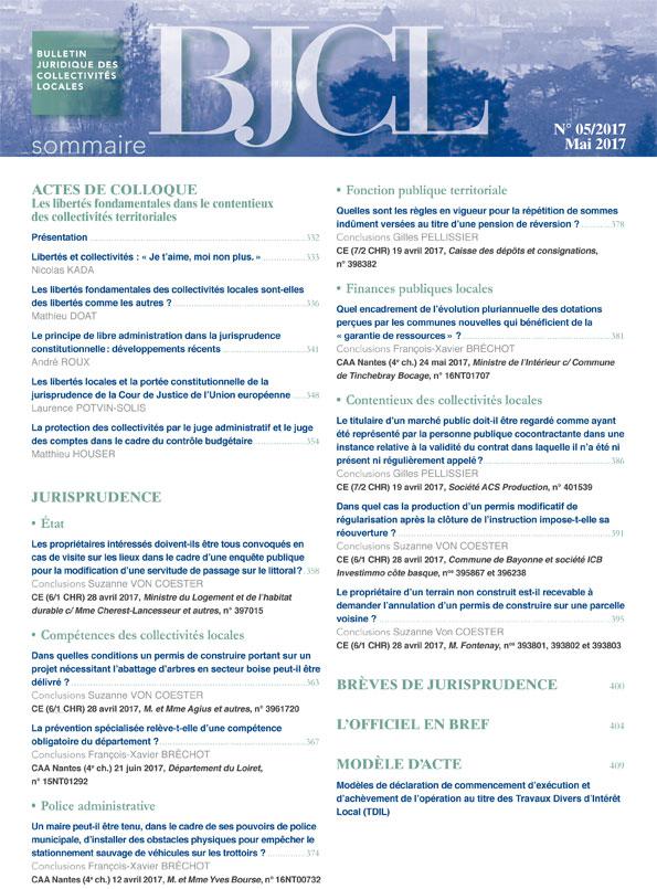 Libertés fondamentales dans le contentieux des collectivités locales (Les)