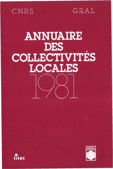 Annuaire des collectivités locales 1981