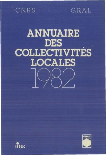 Annuaire des collectivités locales 1982
