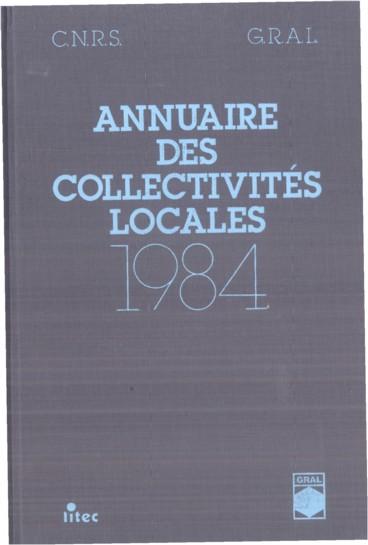 Annuaire des collectivités locales 1984