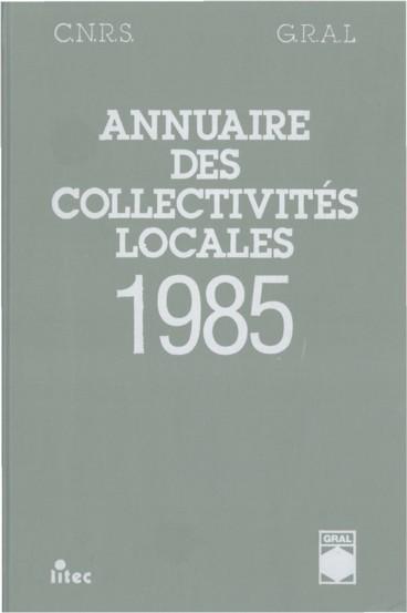 Annuaire des collectivités locales 1985